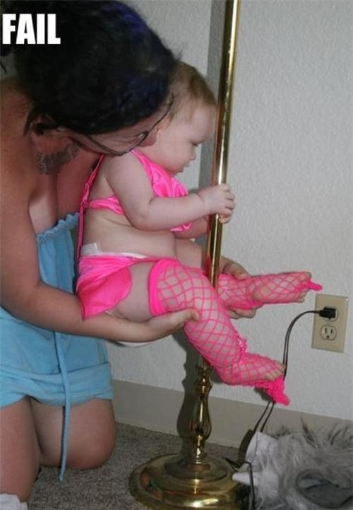 Mom Baby Pole Dancing